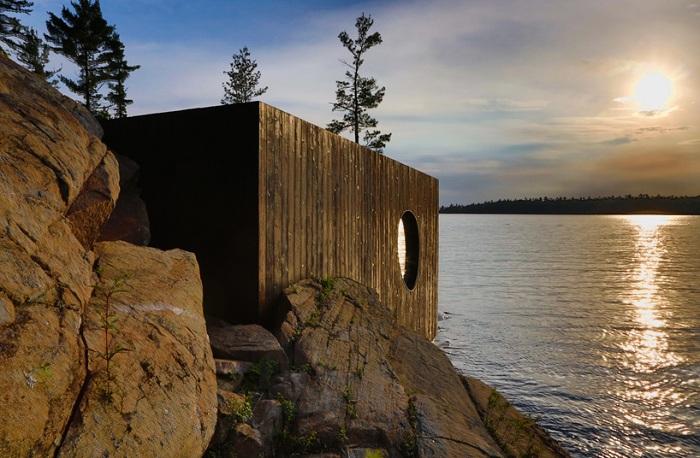 Сауна на берегу озера Гурон (Канада).