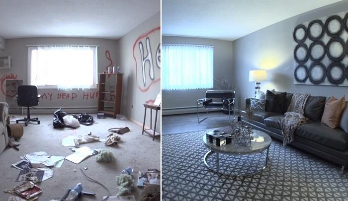 Квартиру отремонтировали всего за 58 минут.