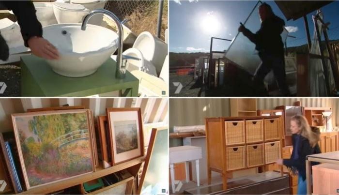 Мебель для ванной решено было купить на блошином рынке.