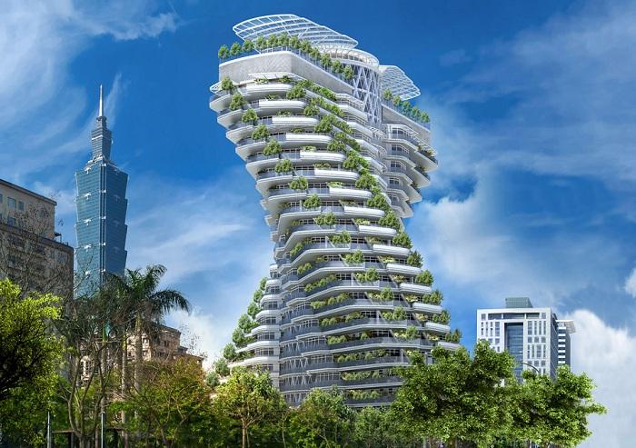 Agora Garden Tower - башня, построенная из экологически чистых материалов.