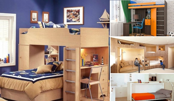 Примеры того, как можно сэкономить пространство в спальной комнате.