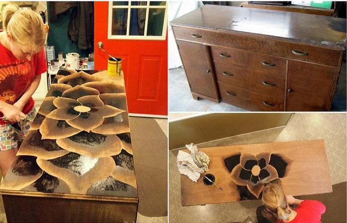 Старая мебель - лучший материал для авторского проекта.
