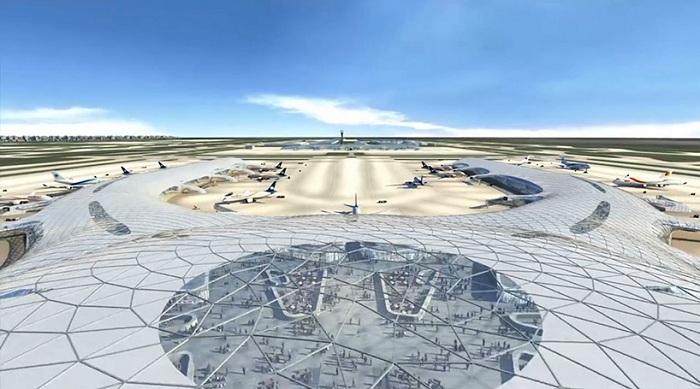 Полая конструкция аэропорта.