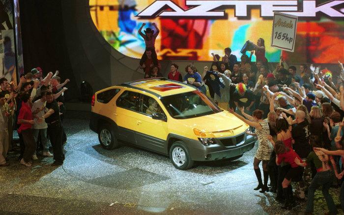 Pontiac Aztek – традиционный «мальчик для битья» в обзорах худших автомобилей.