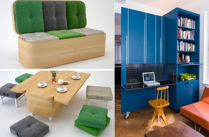 Мебель-трансформер, которая поможет сэкономить место.