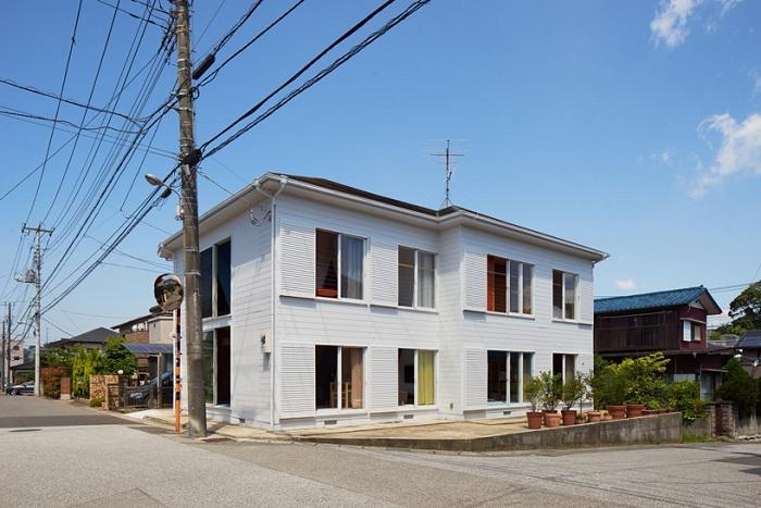 Реконструированный дом в Японии.