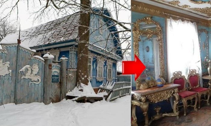Деревенский дом с потрясающим интерьером.