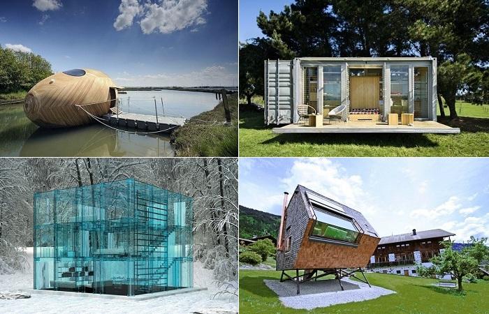 Самые креативные домики небольшого размера.