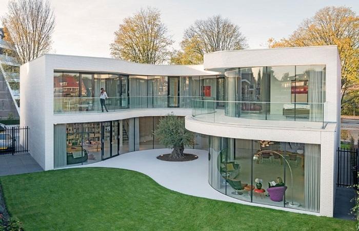 Дом, построенный вокруг оливы.