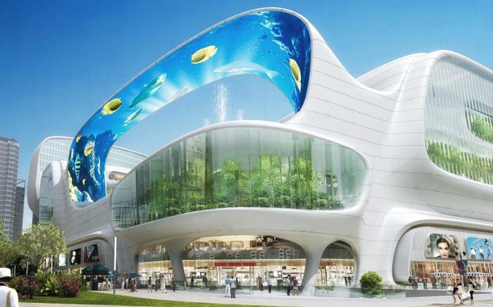 Проект сверхсовременного торгового центра в Китае.