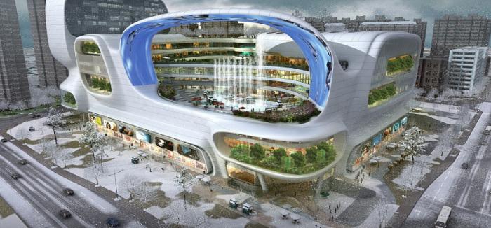 Торговый центр в Китае. Концепт.