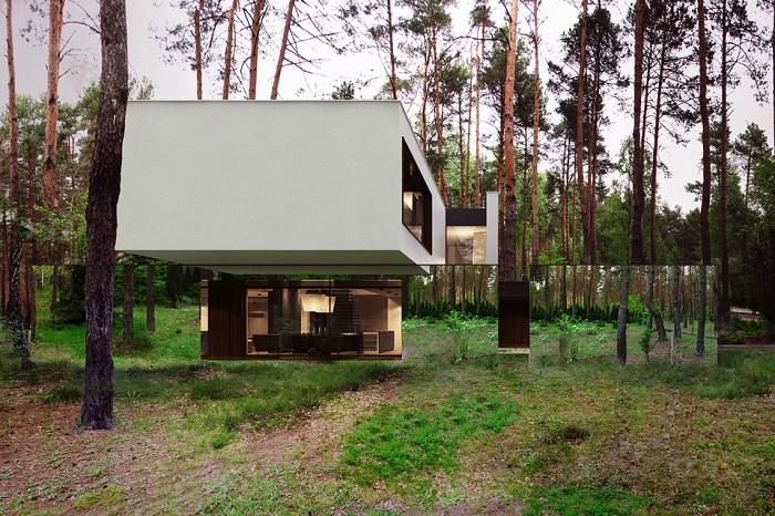 Izabelin House - особняк с зеркальными стенами.