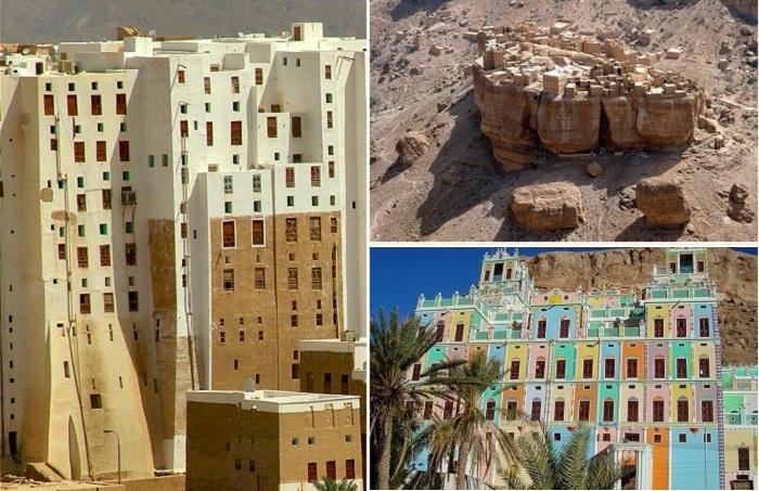 Древние города из глины в Йемене.