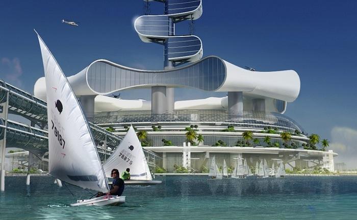 Проект эко-отеля возле города Канкун (Мексика).