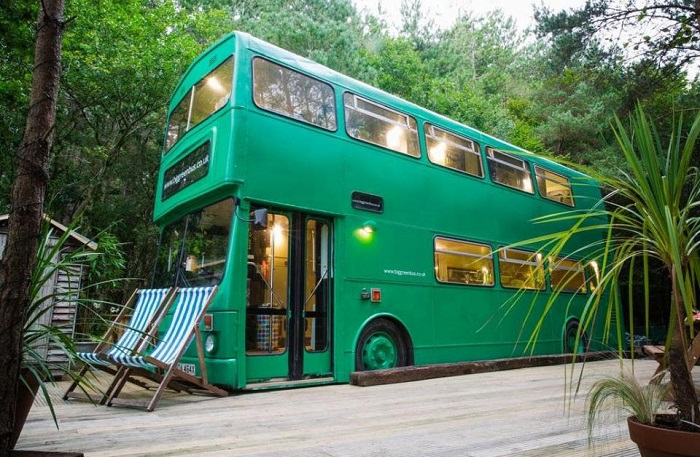 Big Green Bus - автобус, переоборудованный в отель.