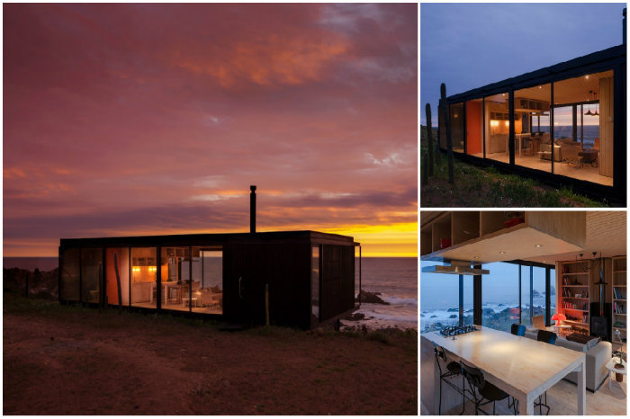 Remote House - модульный дом на берегу Тихого океана.