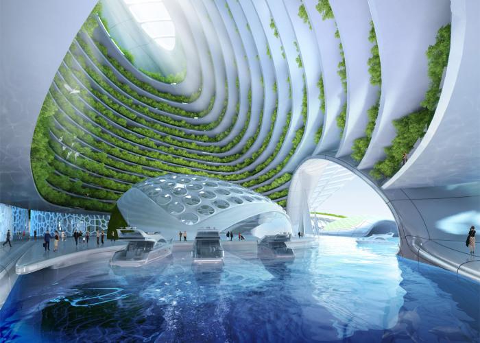 Vincent Callebaut придумал концепт города будущего.