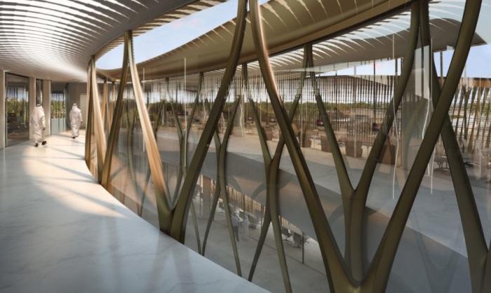 Плавные линии здания - «фирменный» футуристический стиль бюро Захи Хадид.