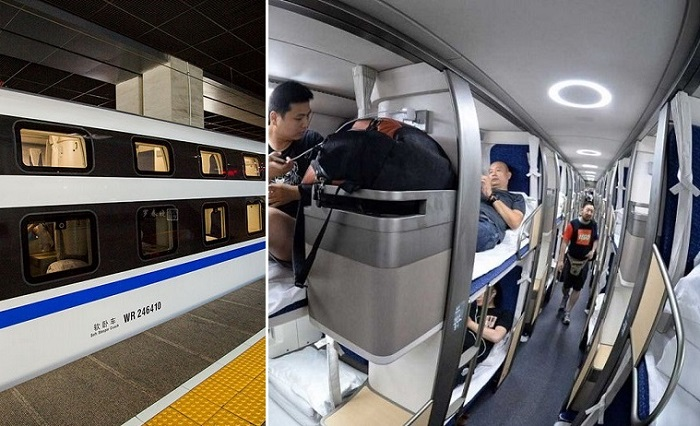 В Китае запустили ночной поезд сверхдальнего следования.