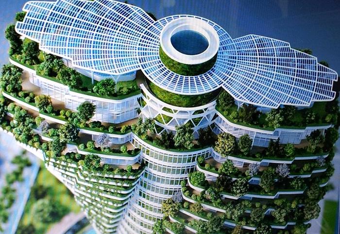 Проект жилой башни Agora Garden Tower архитектора Vincente Callebaut.