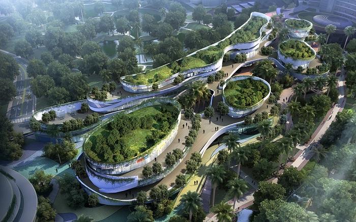 Малайзийские власти строят на 4 островах новый город с полями и садами.