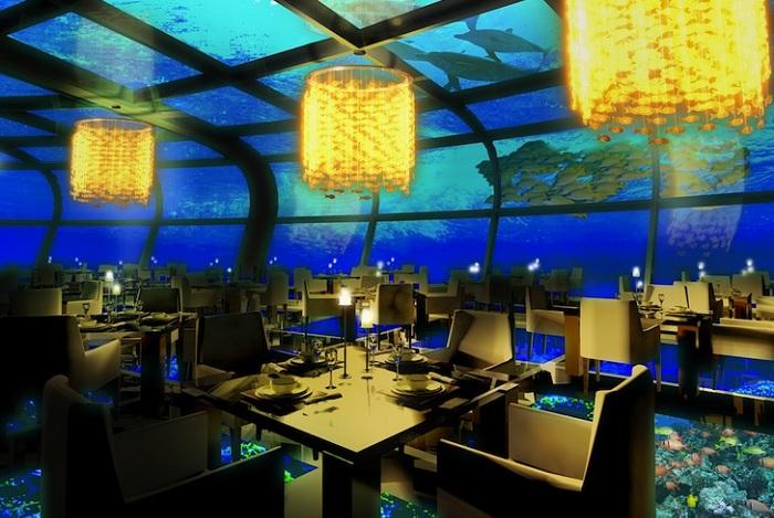 Grand Cancun. Ресторан под водой.