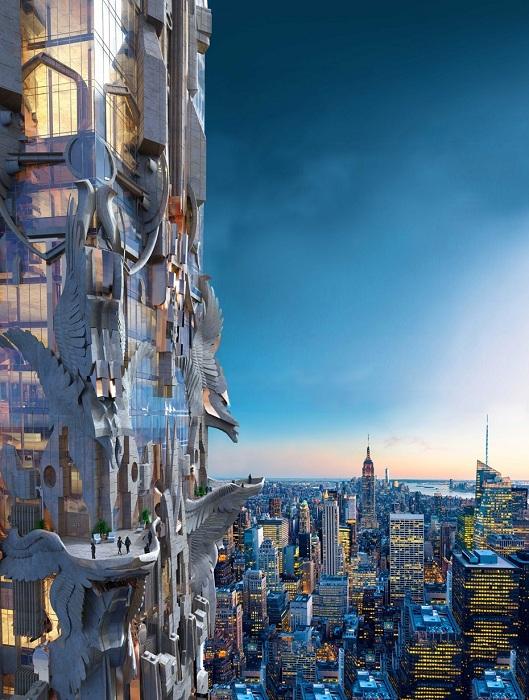 Проект башни от архитектора Marc Foster Gage.
