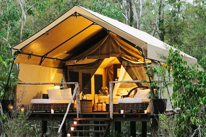 Люкс-палатки в австралийском эко-парке.