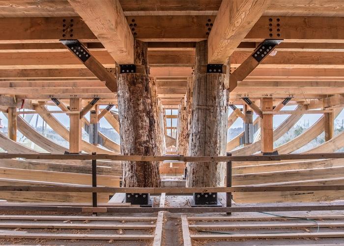 Ковчег является самой крупной структурой в мире с деревянным каркасом.