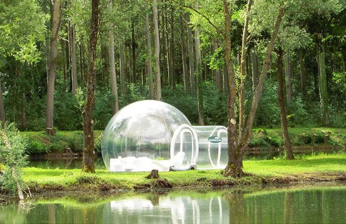 Bubble Tree - прозрачная надувная палатка.