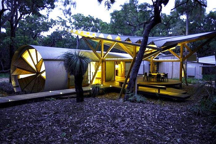 Drew house - гламурный дом для кемпинга в Австралии.