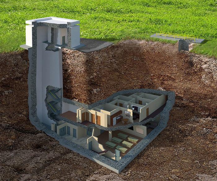 Раньше это был бункер на случай атомной войны, теперь же - роскошные апартаменты.