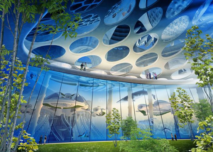 Aequorea - проект города, напечатанного на 3D-принтере.