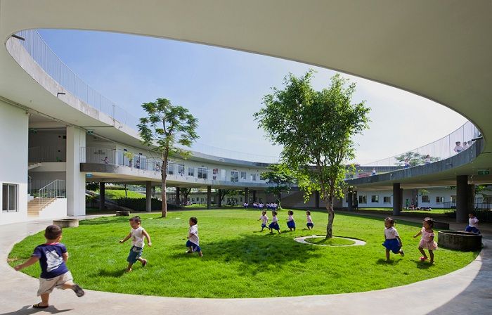 «Farming Kindergarten». Внутренний дворик.