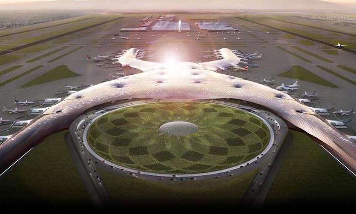 Конструкция аэропорта в виде буквы «Х».
