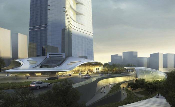 Снаружи Jeddah Tower будет отделана стеклами со специальными светофильтрами.
