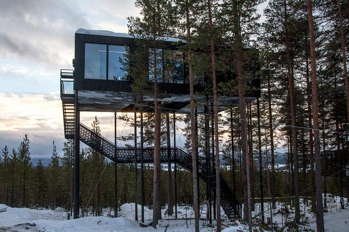 Отель, спроектированный архитектурной фирмой Снехетта.