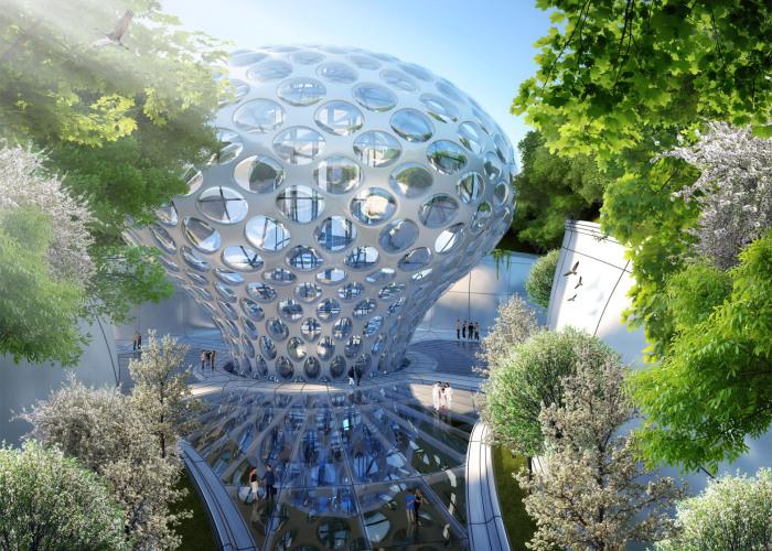 Aequorea - проект футуристического города на воде.