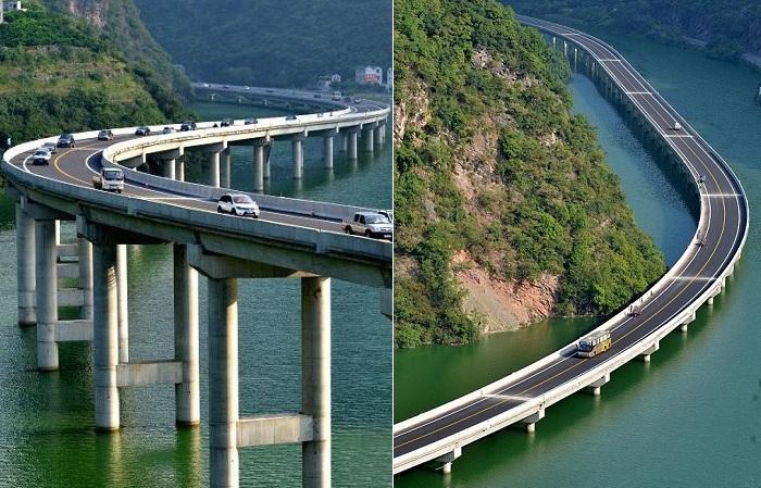 Over-Water highway - мост, построенный по руслу реки.