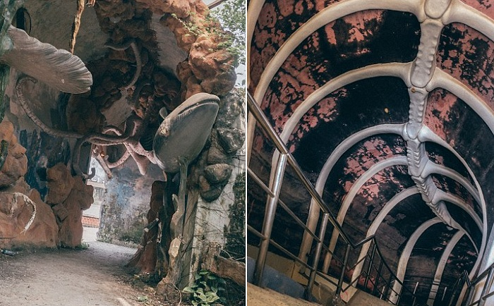 Мрачные коридоры покинутого аквапарка во Вьетнаме.