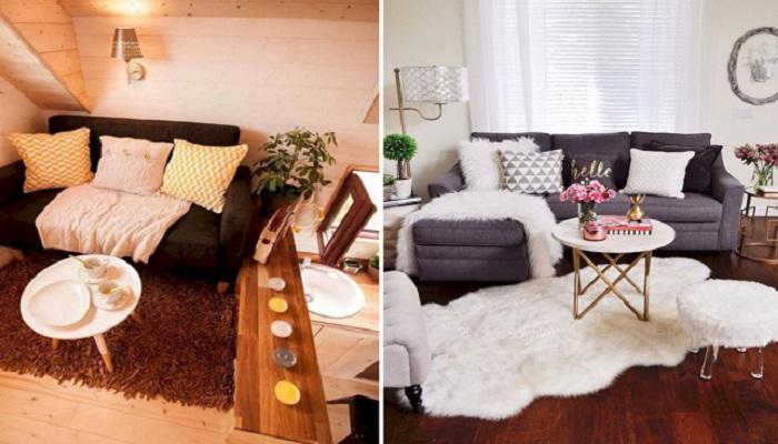 Идеи для интерьера маленькой гостиной, которые еще не успели надоесть.