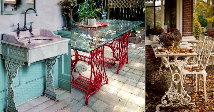 Дизайнерские хитрости, которые вдохнут новую жизнь в старые швейные столы.