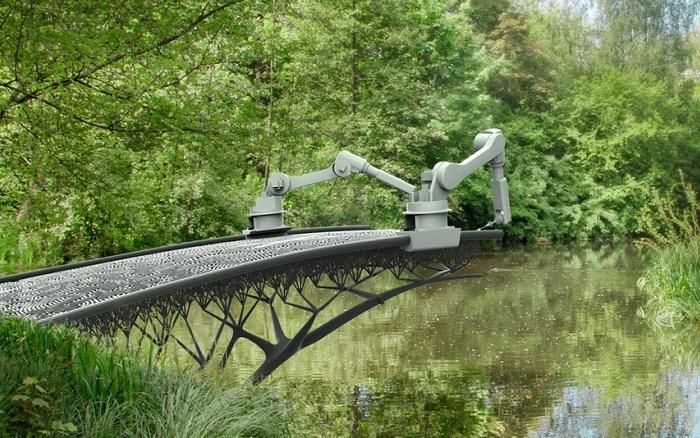 На 3D-принтере распечатают настоящий мост.