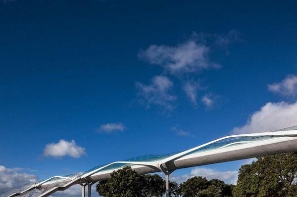 Реконструированный мост «Point Resolution» (Новая Зеландия).