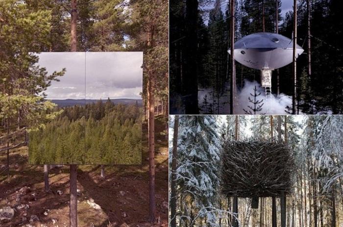 Treehotel. Проекты шведской архитектурной фирмы.
