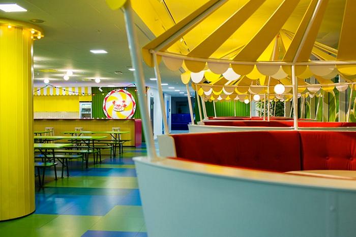 «Игровой» дизайн офиса в Швеции.