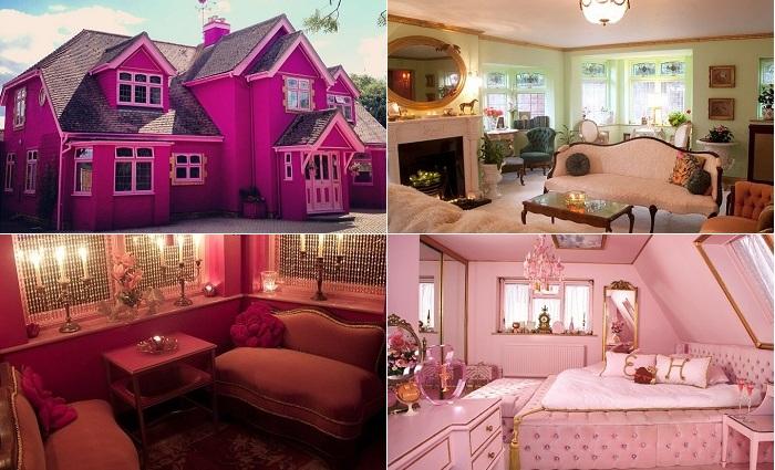 Розовый домик Барби.