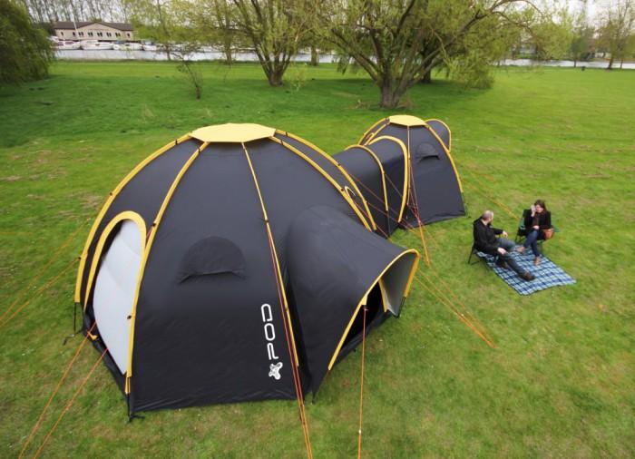 POD Tents - палатки, которые соединяются между собой.