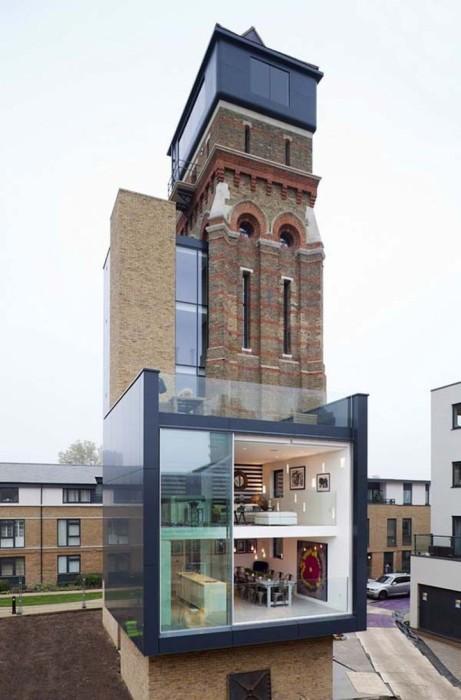 Водонапорная башня в Лондоне, переделанная в шикарные апартаменты.