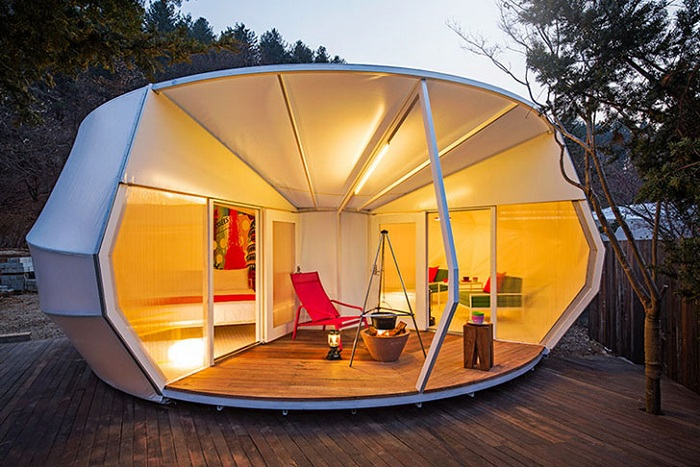 Glamping for Glampers  - корейский вариант гламурных палаток.